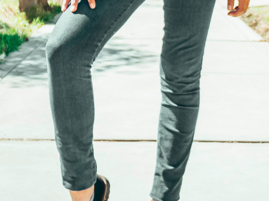000F office grey jeans